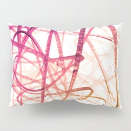 Crimson Sunset Goldenrod Tangled Abstract Pillow Sham