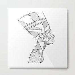 Nefertari Queen Metal Print