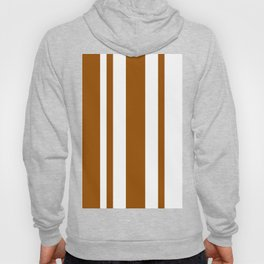Mixed Vertical Stripes - White and Brown Hoody
