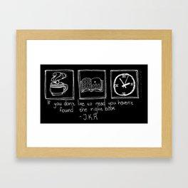 Books (Black) Framed Art Print