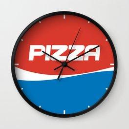 Pizza & Coke Wall Clock