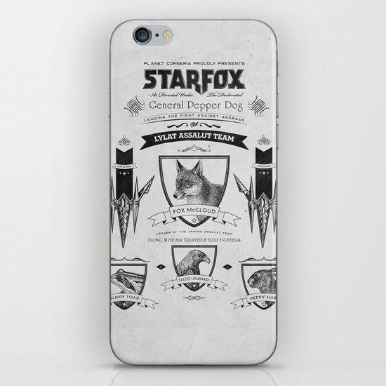 Star Fox Vintage Poster Geek Line Artly iPhone & iPod Skin