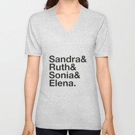 RBG Shirt - Sandra Ruth Sonia Elena Unisex V-Neck