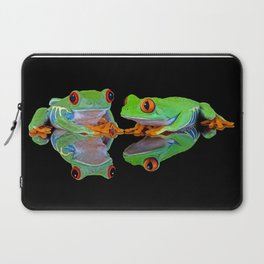 DOUBLE MIRROR FROGGINESS Laptop Sleeve