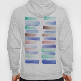 26 | 181101 Watercolour Palette Abstract Art | Lines | Stripes | Hoody