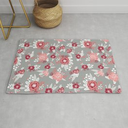 Floral Bama alabama crimson tide gifts for university of alabama students and alumni Rug