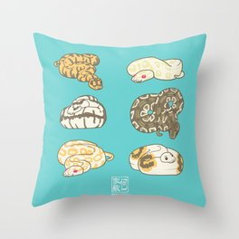 SNEKS Throw Pillow