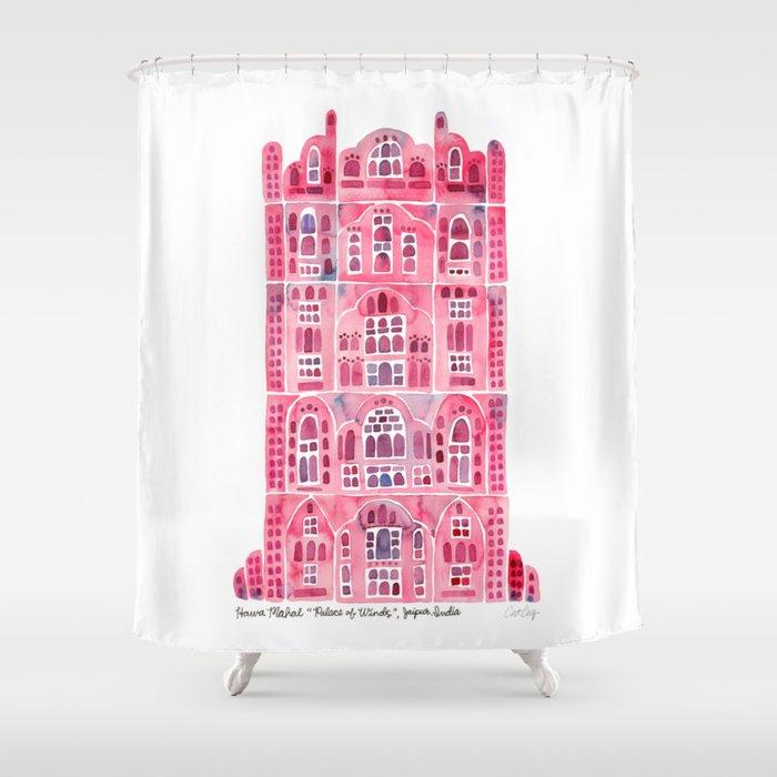 Hawa Mahal U2013 Pink Palace Of Jaipur, India Shower Curtain