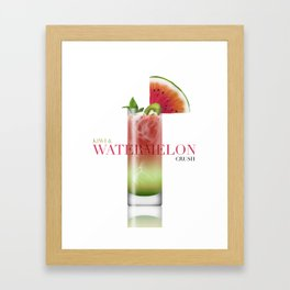 Kiwi and Watermelon crush Framed Art Print