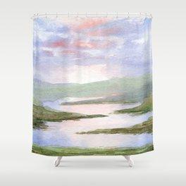 Imaginary Landscape Shower Curtain