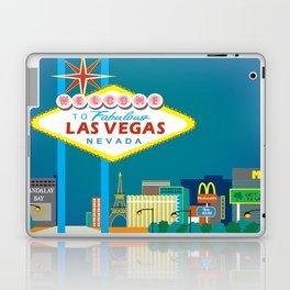 Las Vegas, Nevada - Skyline Illustration by Loose Petals Laptop & iPad Skin