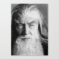 gandalf Canvas Prints featuring Gandalf by scottmitchell