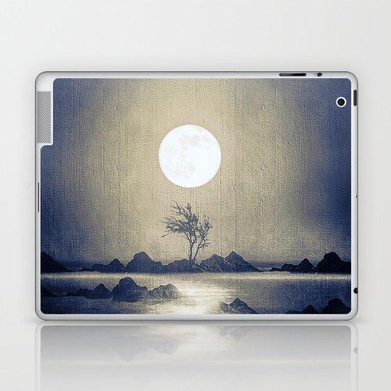 When the moon speaks (part III) colour option Laptop & iPad Skin
