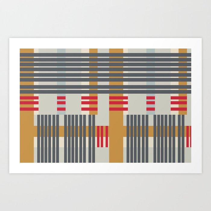 stripey stripe Art Print