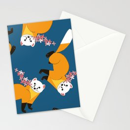 Sakura Japanese marten royal blue Stationery Cards
