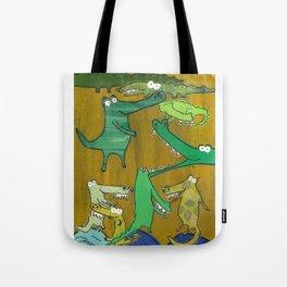 crocs and gators Tote Bag