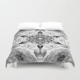 Black-and-White Abstract 14 Duvet Cover