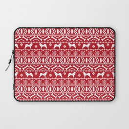 Akita dog breed fair isle christmas sweater pattern funny dog lover gifts Laptop Sleeve