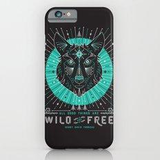 Wild & Free Wolf – Turquoise & Grey iPhone 6s Slim Case