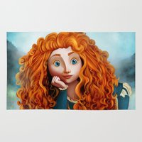 merida Area & Throw Rugs featuring Merida The Brave by This Is Niniel Illustrator