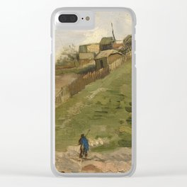 The hill of Montmartre with Stone Quarry Clear iPhone Case