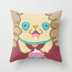 Birthday licks Throw Pillow