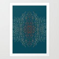 GeoGradientTurquoise Art Print