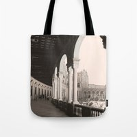 architecture Tote Bags featuring architecture by Armine Nersisian