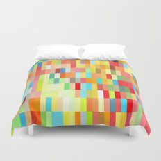 colorful rectangle grid Duvet Cover