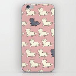 Proud cat pattern Pink iPhone Skin