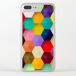 Abstract Colorful 3D Clear iPhone Case