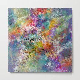 PAINT STAINED ABSTRACT Metal Print