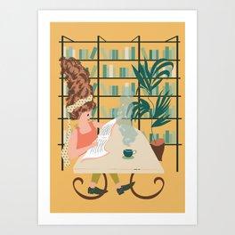 Sunday Morning Vibe in yellow Art Print