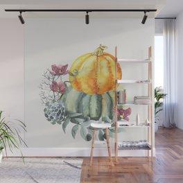 Pretty Pumpkins Wall Mural