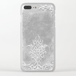 Tribal Edging Book Cover Light Clear iPhone Case