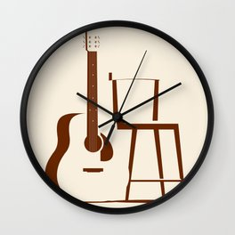 Guitar and Chair Wall Clock
