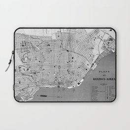 Vintage Map of Buenos Aires Argentina (1888) Laptop Sleeve