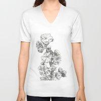 study V-neck T-shirts featuring Flower Study by Trisha Thompson Adams