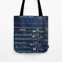 Library Card 23322 Negative Tote Bag
