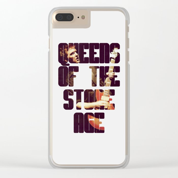 Queens Of The Stone Age QOTSA Font Josh Homme Guitar Clear iPhone Case