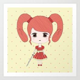 Aries Girl Art Print