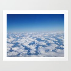 Blue Sky White Clouds Color Photography Art Print