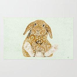 Swirly Bunny Rug