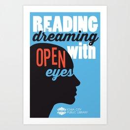 Open Eyes - Iowa City Public Library Art Print