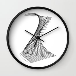 """""""Linear Collection"""" - Minimal Letter Z Print Wall Clock"""