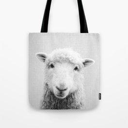 Sheep - Black & White Tote Bag