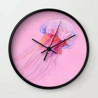 jellyfish Wall Clocks featuring Jellyfish by ShaMiLa