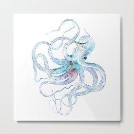 Vintage octopus colorized Metal Print