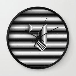 """Illusive letter """"J"""" Wall Clock"""