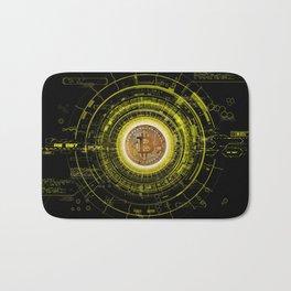 Bitcoin Blockchain Cryptocurrency Bath Mat